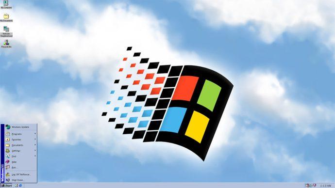windows 98 start menu desktop
