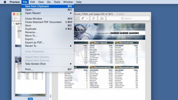 os x preview new from clipboard