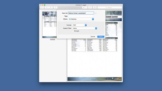 os x preview save single pdf