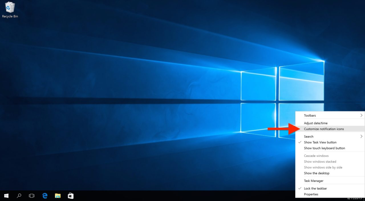 How to Remove the Clock from the Windows 10 Taskbar