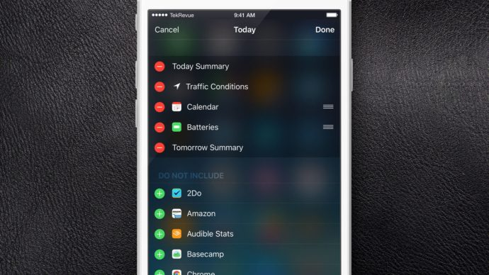 iphone edit notification center widgets