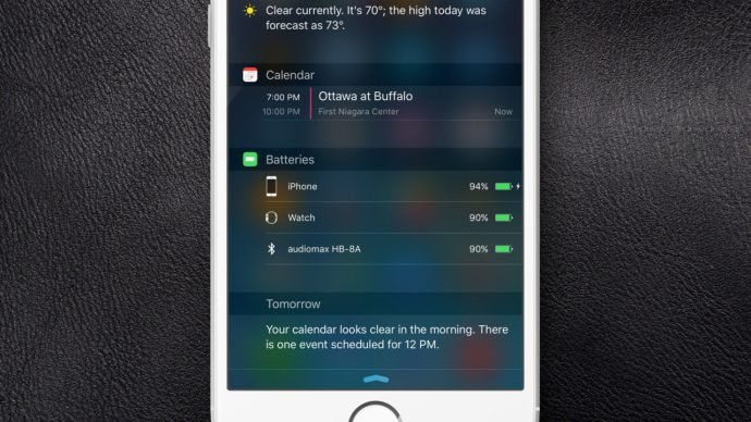 notification center batteries widget ios 9