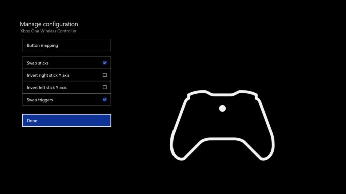 xbox one button mapping triggers