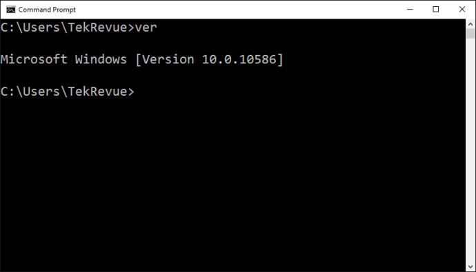 command prompt windows ver
