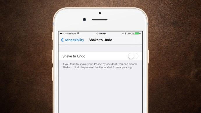 disable shake to undo ios
