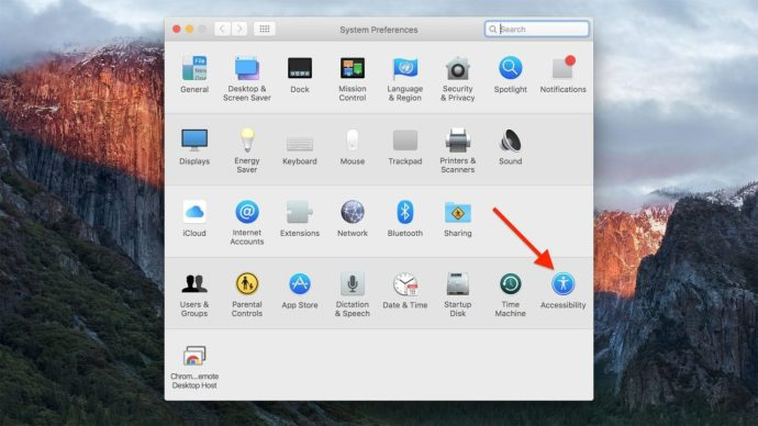 el capitan system preferences accessibility
