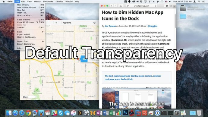 el capitan transparency