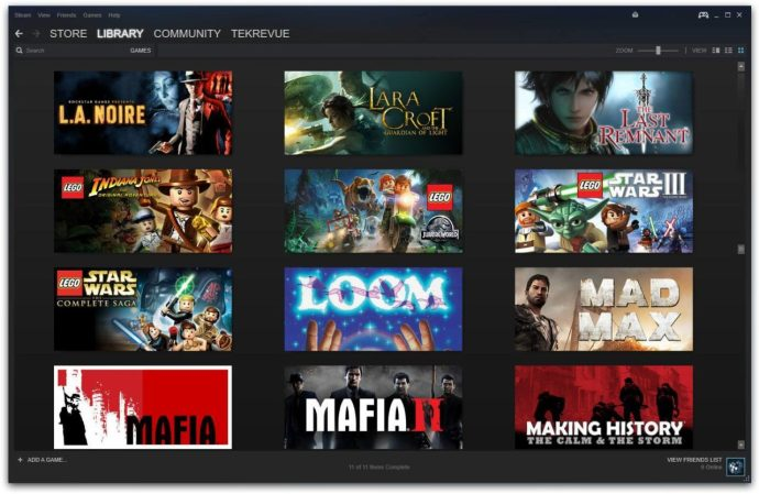 steam library grid view