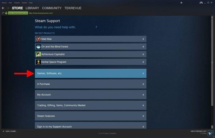 steam support games etc
