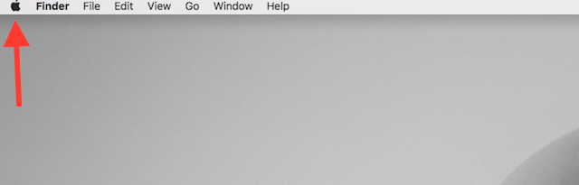 Apple logo on menu bar
