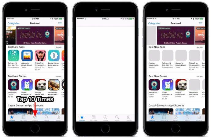 ios app store reset cache