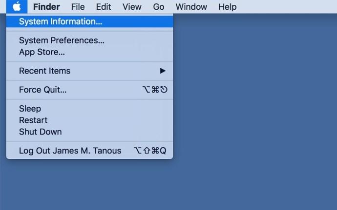 mac menu bar system information