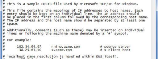 hosts file windows 10