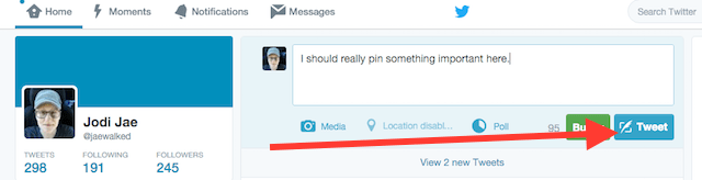publish your tweet