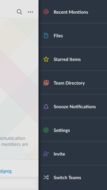 slack mobile settings