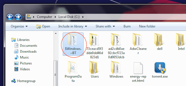 what-is-windowsBT-folder