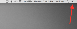 Notification Center in OS X
