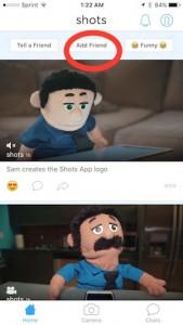 add friend in Shots app