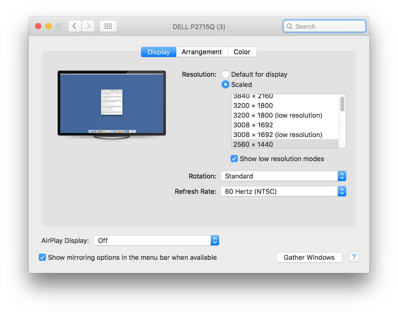 How to Set Custom Resolutions for External Displays in Mac OS X