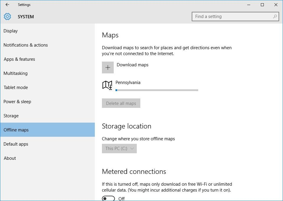 How to Download and Manage Offline Maps in Windows 10