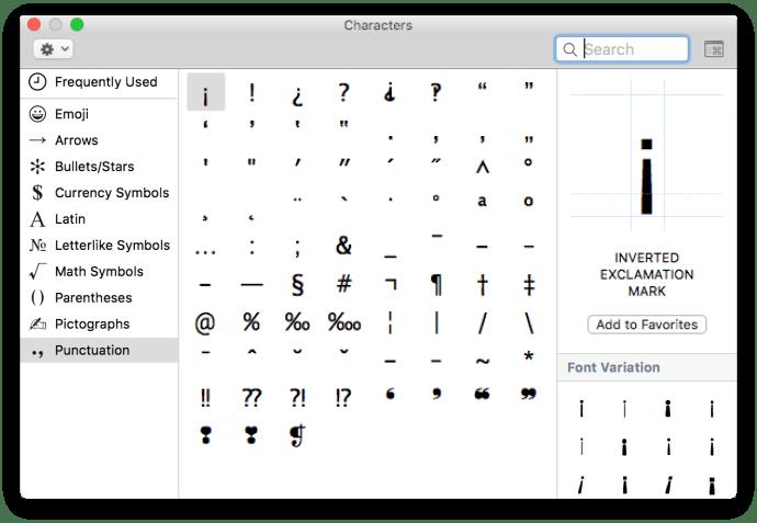 emojis and symbols mac os x