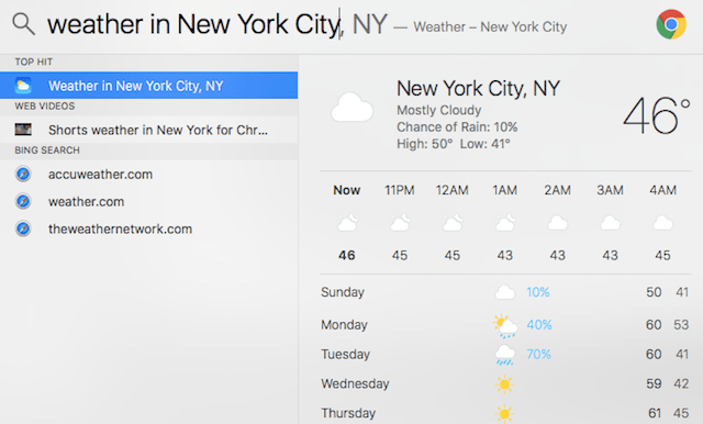 weather in NYC