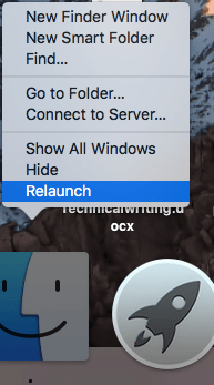 finder relaunch