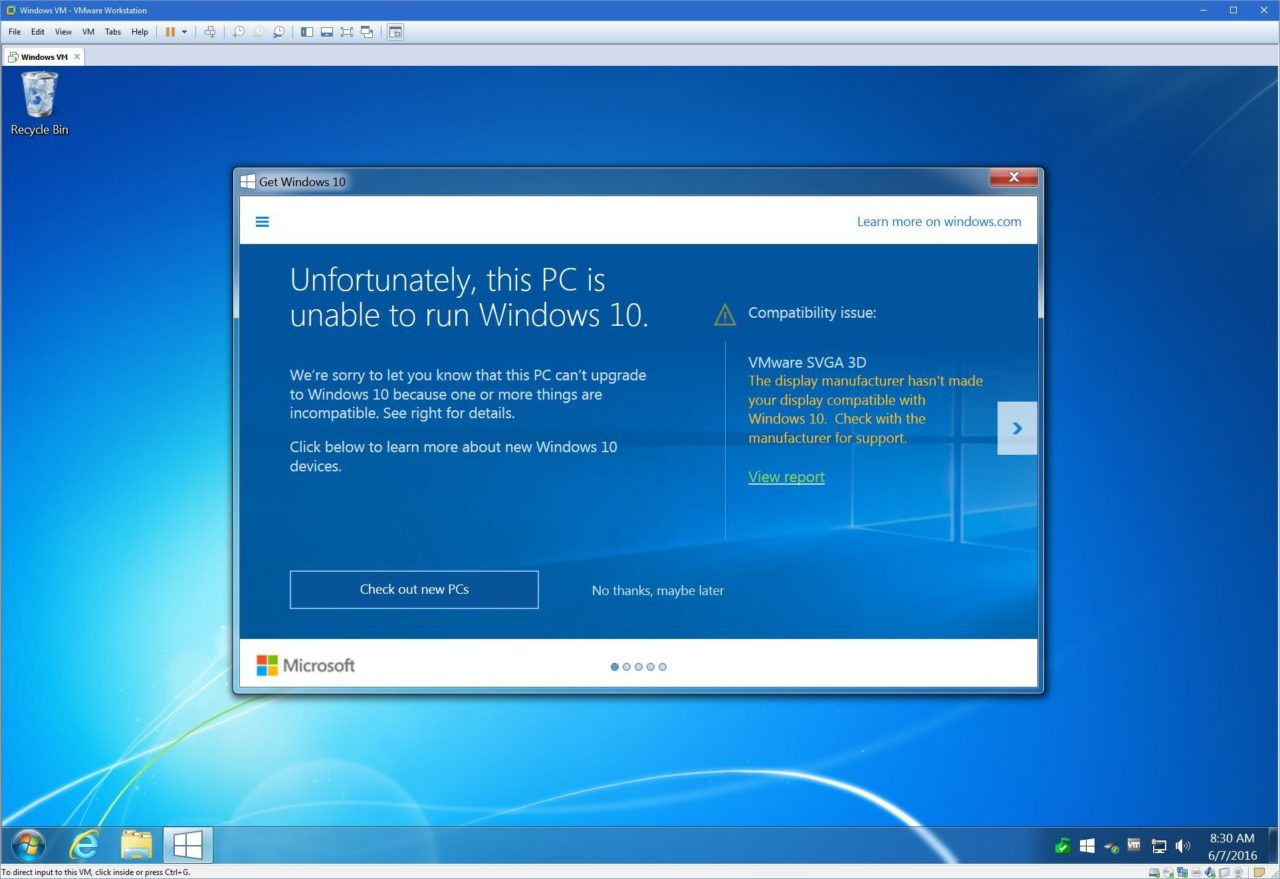 How to Fix the Windows 10 VMware SVGA 3D Compatibility Issue