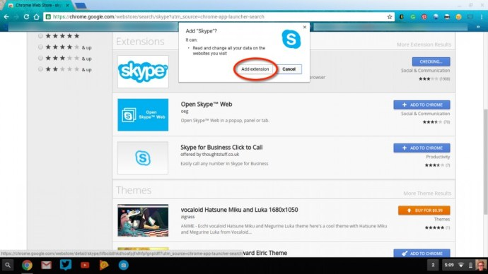 Add Skype Extension