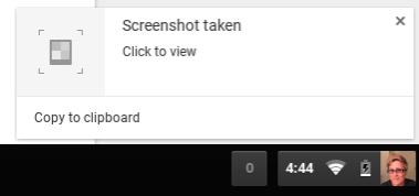 Screenshot taken Chromebook