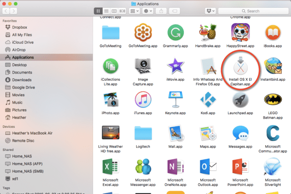 Apps macOS