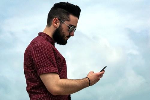 Guy on phone