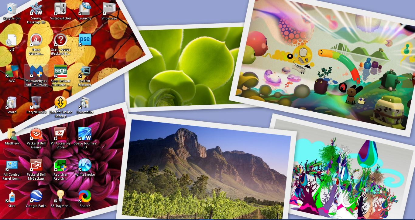 Photo Collage Wallpaper for Windows 10