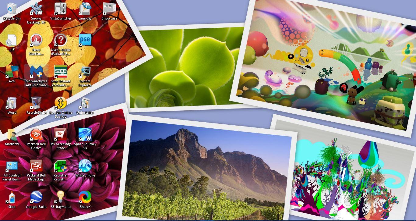 Windows 10 desktop wallpaper slideshow