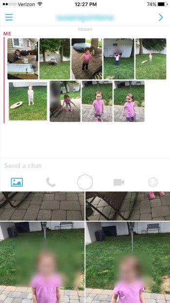 Snapchat send photos