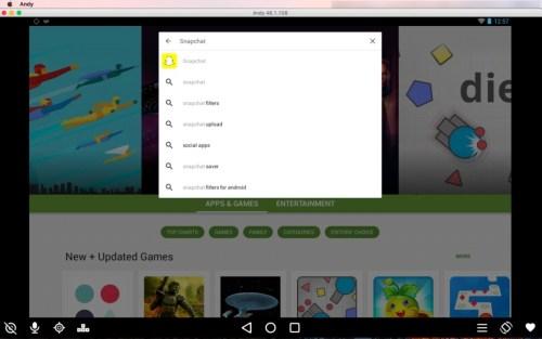 Snapchat search Google Play