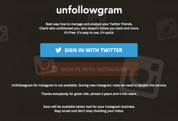 Unfollowgram No Instagram