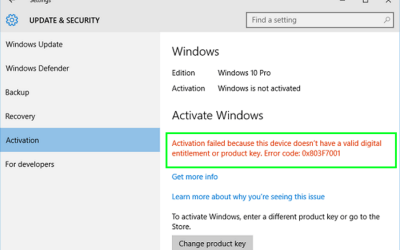 How to fix error 0x803f7001 in Windows 10-1