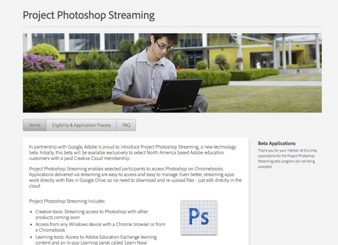 Photoshop streaming Beta