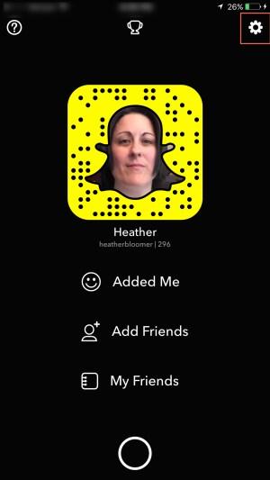 Snapchat setting
