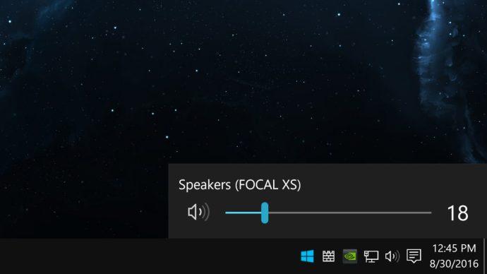 windows 10 volume taskbar