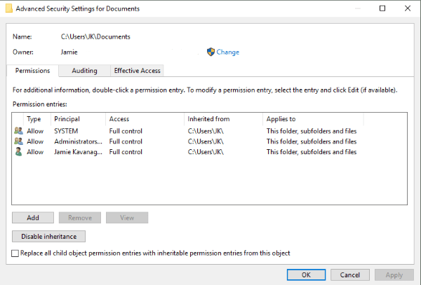 copy file error 0x80004005