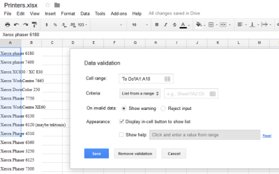 How to make a dropdown list in Google Sheets-1