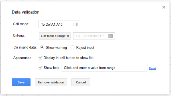 How to make a dropdown list in Google Sheets-2
