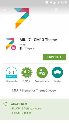MIUI7 CM13 theme