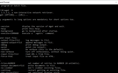 A Beginners Guide to Using wget in Windows