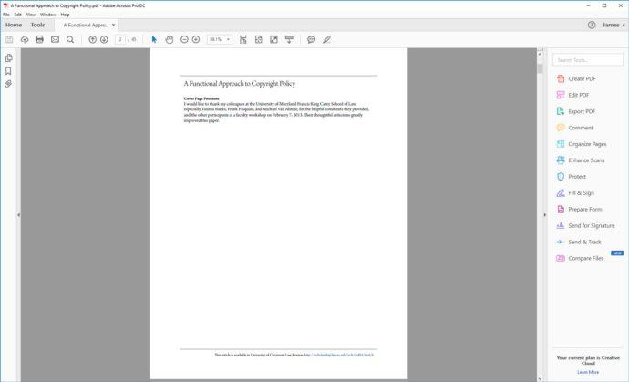 adobe acrobat single page view