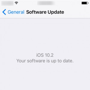 iPhone up to date