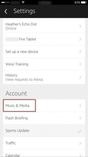 Alexa Music & Media