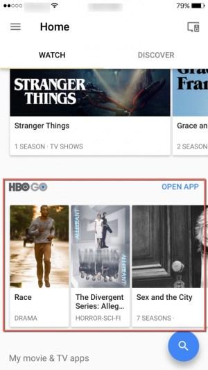 HBO GO Google Home App